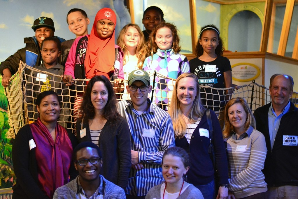 These mentor pairs from the King Street Center were some of the more than 200 adults and youth mentees who attended Community Science Night, a free annual event for mentor pairs, hosted by the ECHO Leahy Center for Lake Champlain.