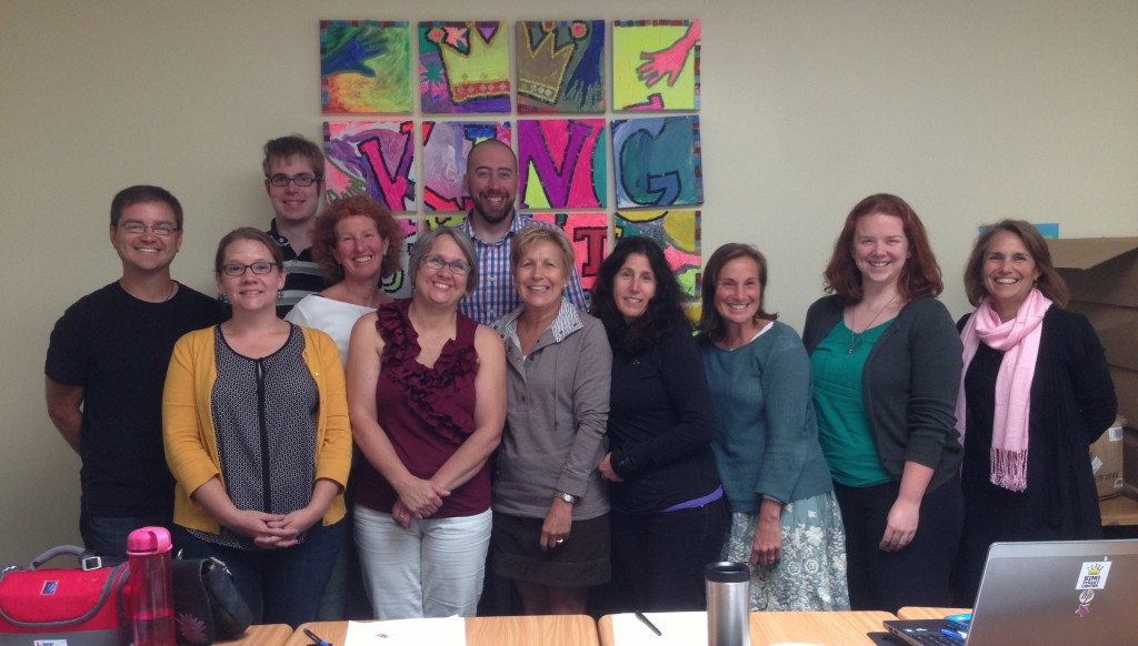 Mobius staff and the Program Leadership Council at the September meeting at the King Street Center.