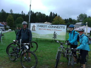 Mentoring supporters proudly pose with their bikes as a part of Cabot Connects Mentoring's Ride the Ridges fundraiser.