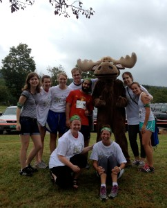AmeriCorps VISTA members and Mobius staff volunteer at Vermont Adaptive Ski and Sport's Annual 5k at Bolton Valley
