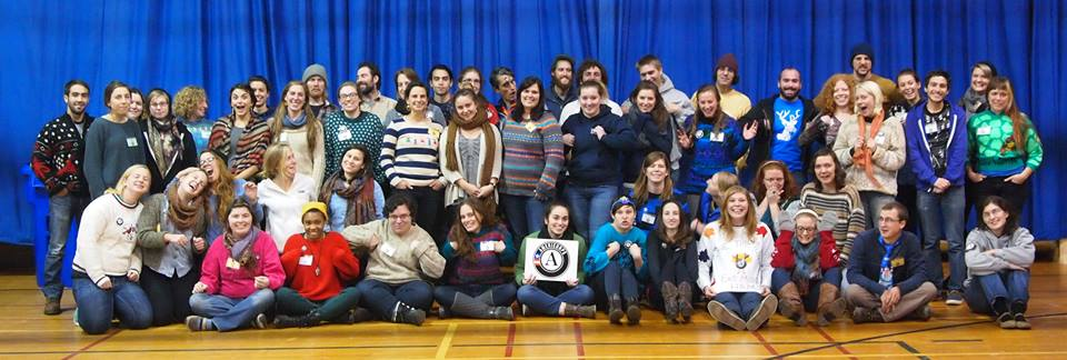 Vermont AmeriCorps members meet in Montpelier on November 12th. Photo courtesy of Vermont Youth Tomorrow.