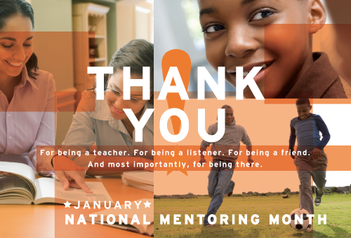 Mentor Thank You Card - National Mentoring Month 2015