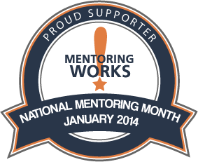 National Mentoring Month badge