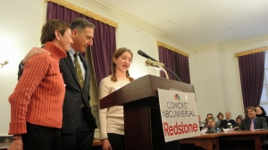 Governor Peter Shumlin and Mentee Reading Mentoring Proclamation