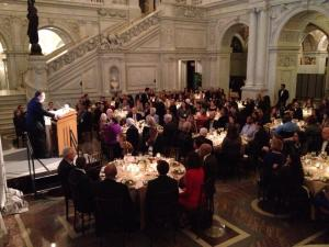 MENTOR CEO David Shapiro addresses mentoring guests at the 2015 Excellence in Mentoring Award dinner at the Library of Congress.