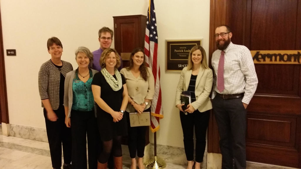 Mobius staff and Vermont mentoring coordinators met with Frieda Arenos and Kathryn Toomajian from Senator Leahy's office in Washington D.C.
