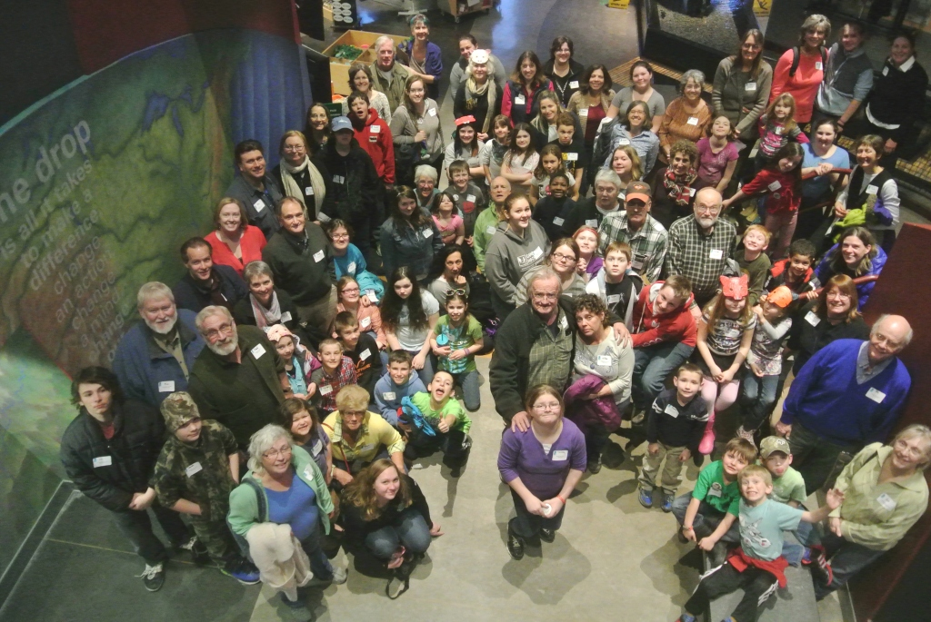 Around 80 adult mentors and youth mentees from the Grand Isle County Mentoring Program traveled to Burlington by bus to attend Community Science Night for Mentoring at the ECHO Science Center and Lake Aquarium.