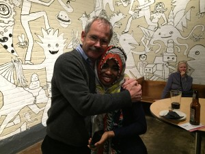 Mentee guest speaker Madina Arbow is joined by Spectrum Executive Director Mark Redmond.