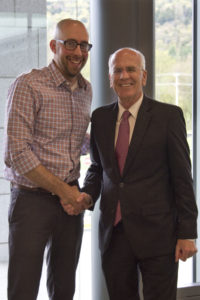 Mobius Executive Director, Chad Butt, and Congressman Peter Welch at the 2017 Vermont Mentoring Symposium!