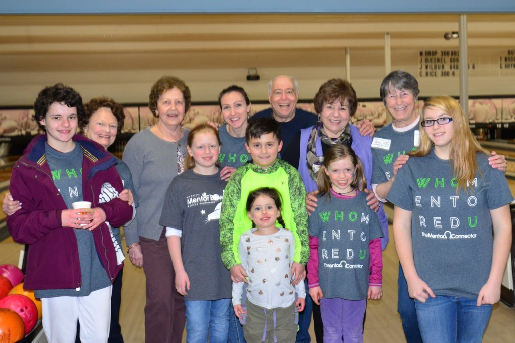 Mentor Connector mentors and mentees at Mentor Bowl