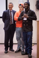 Rajnii and Ethan with Gov